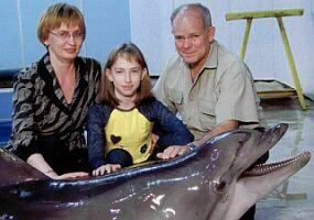 Светлана Губарева, ее дочь Саша и Сэнди Букер