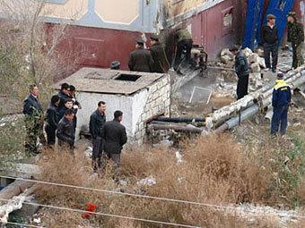 На месте взрыва в Атырау. Фото с сайта azh.kz
